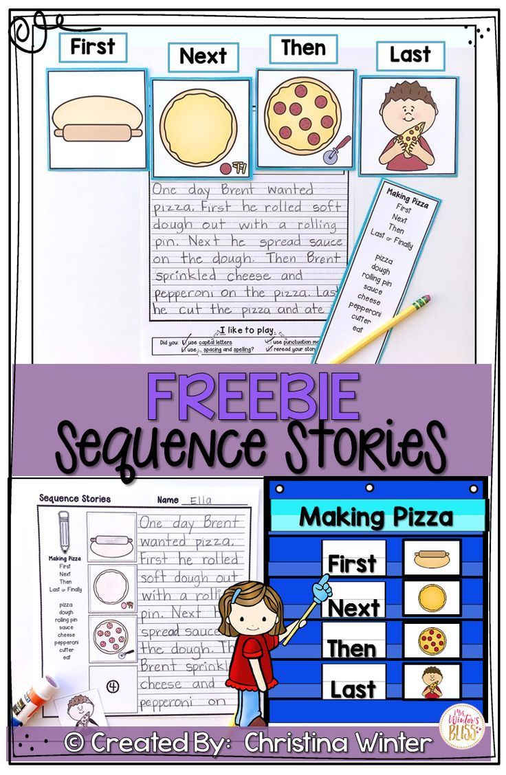Sequence Writing Prompts Free | 1st Grade | Kindergarten