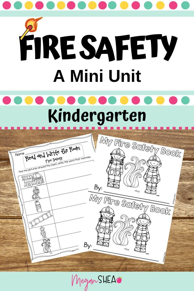 Fire Safety Mini Unit For Kindergarten | Back To School/fall