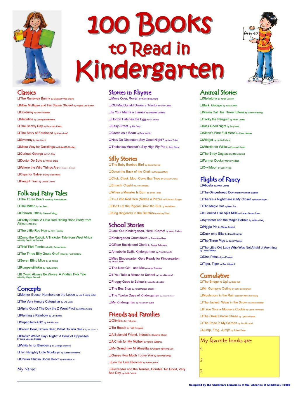 Books For Kindergarten | Kindergarten Ideas