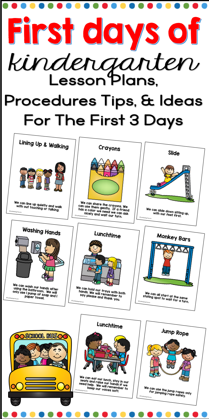 First Day Of Kindergarten Activities Lesson Plans Awards And