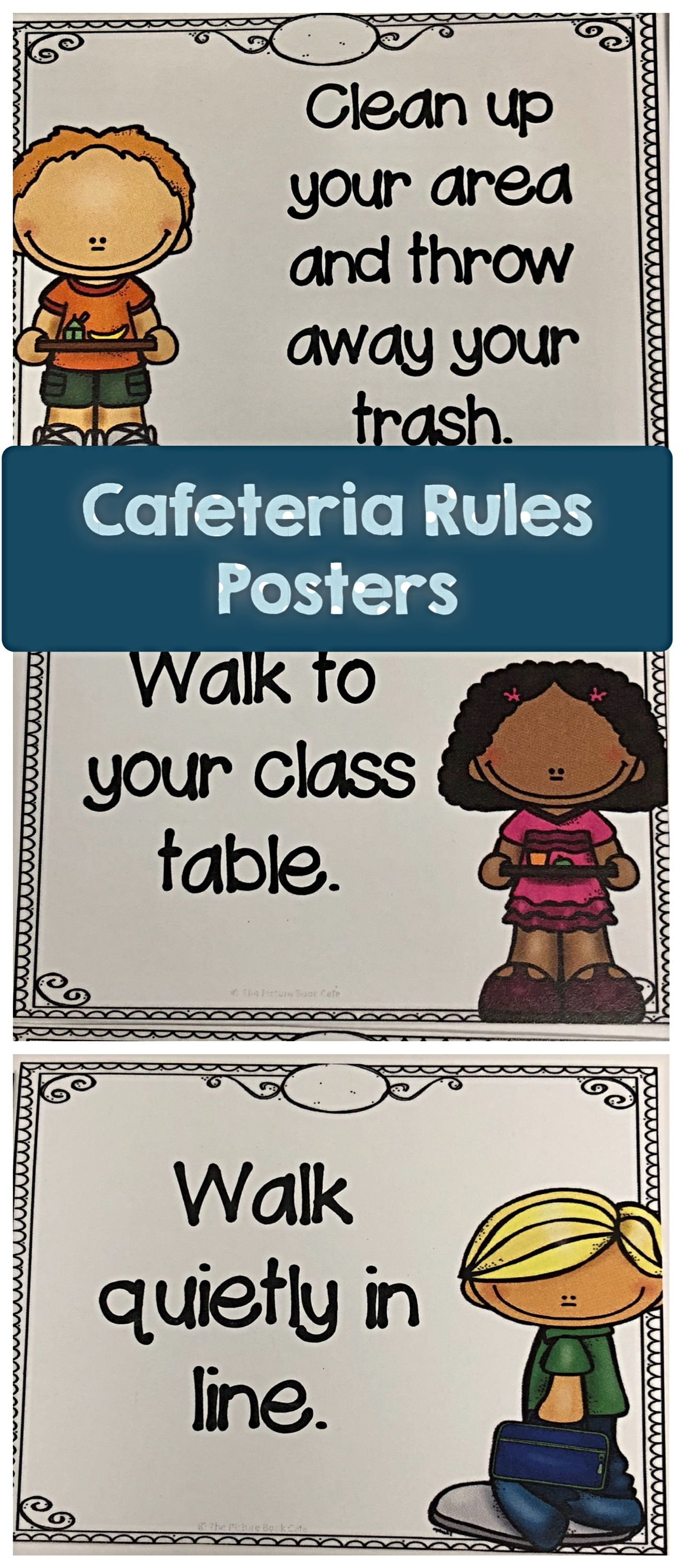 Cafeteria Rules Posters | Best Of Kindergarten | Rules For
