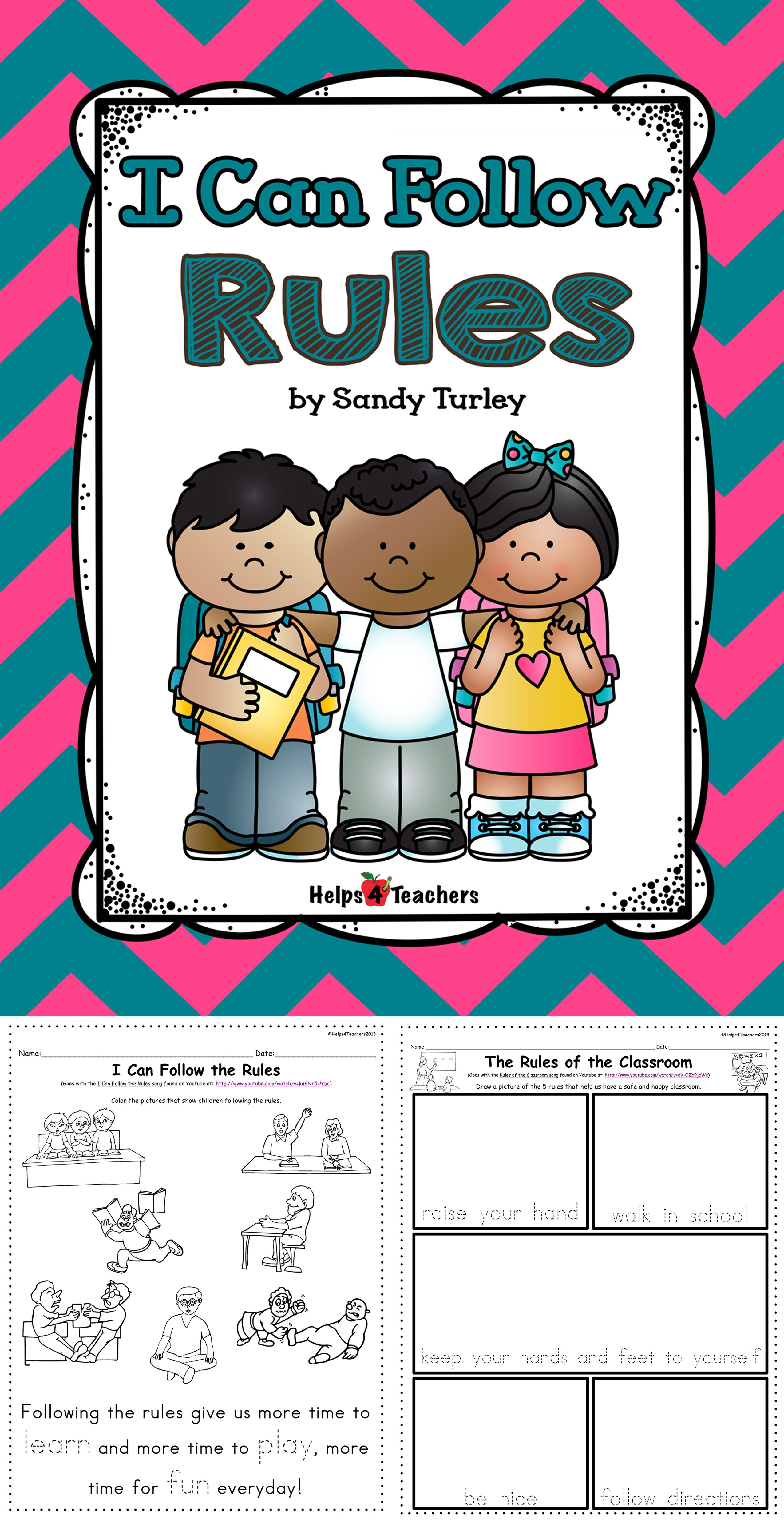 I Can Follow Rules | Tpt Free Lessons | Kindergarten Social