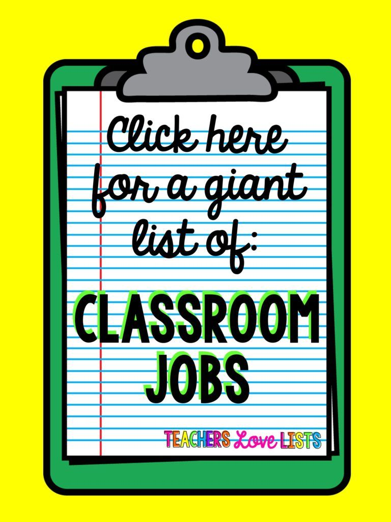 Classroom Jobs List Of Pretty Much Every Kindergarten First