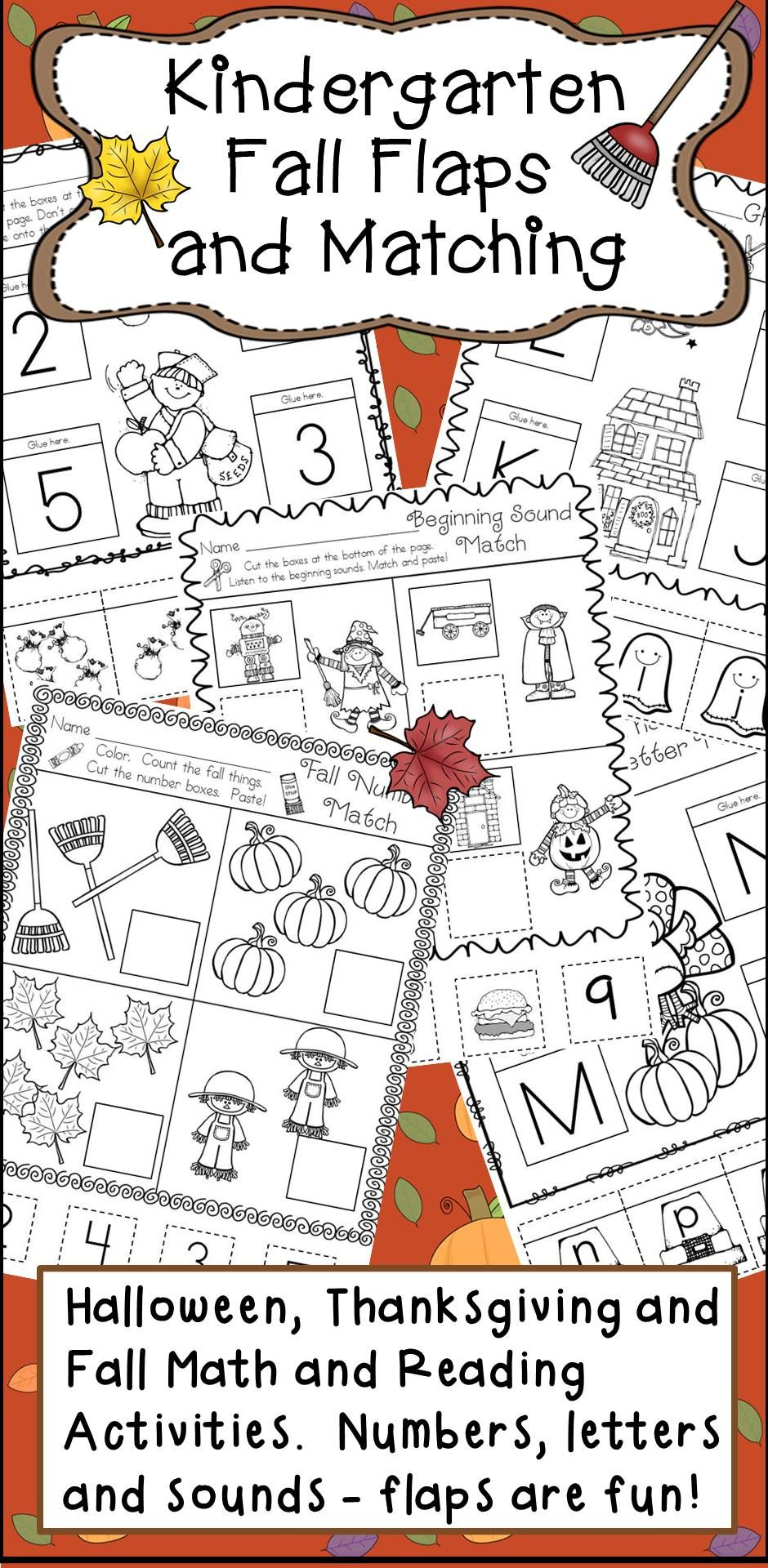 Kindergarten Fall And Halloween And Thanksgiving Literacy