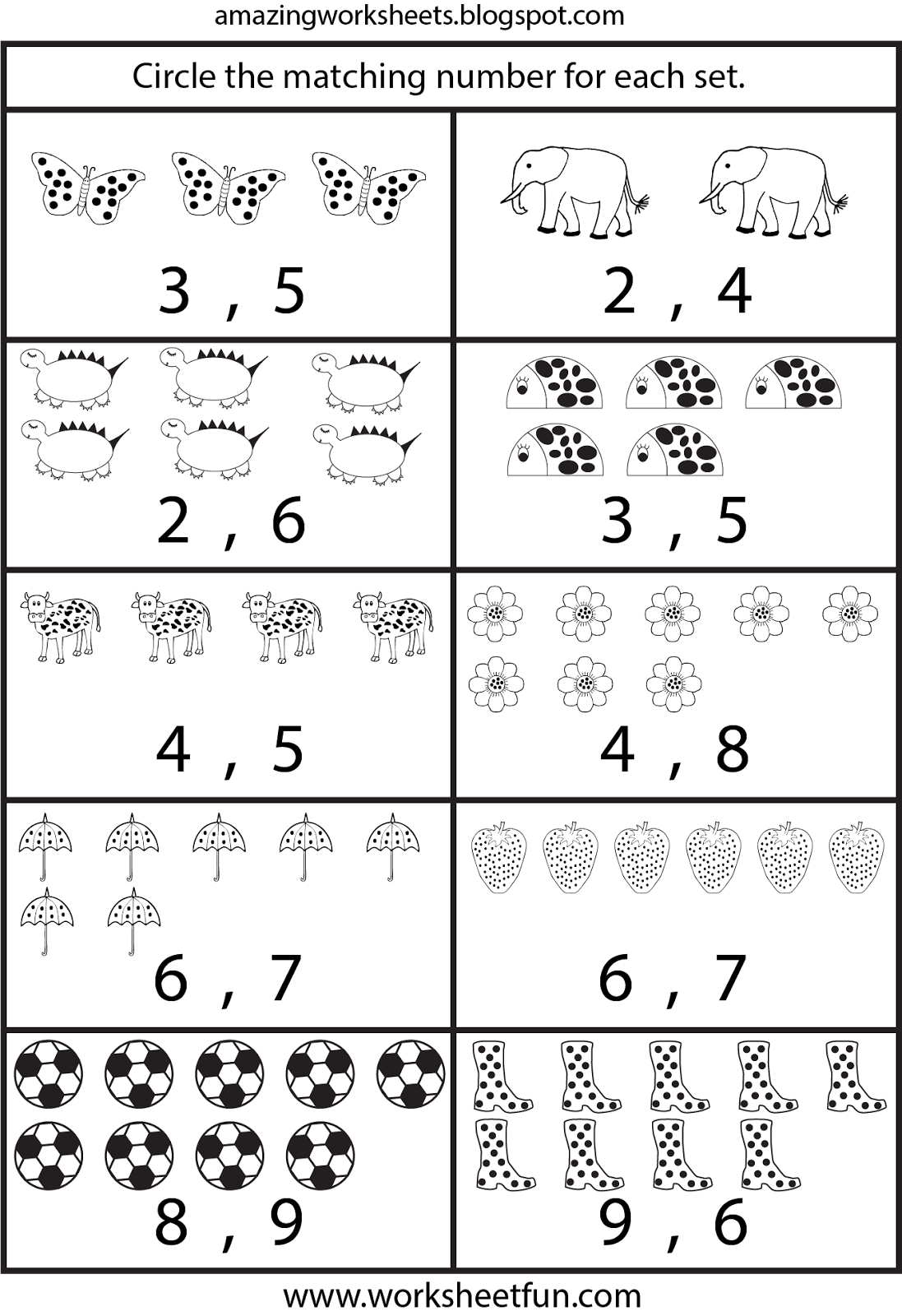 Counting Worksheets For Kindergarten … | Learning | Free