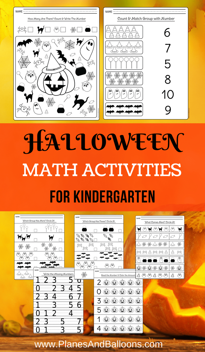 Halloween Kindergarten Worksheets For Math Centers And Extra