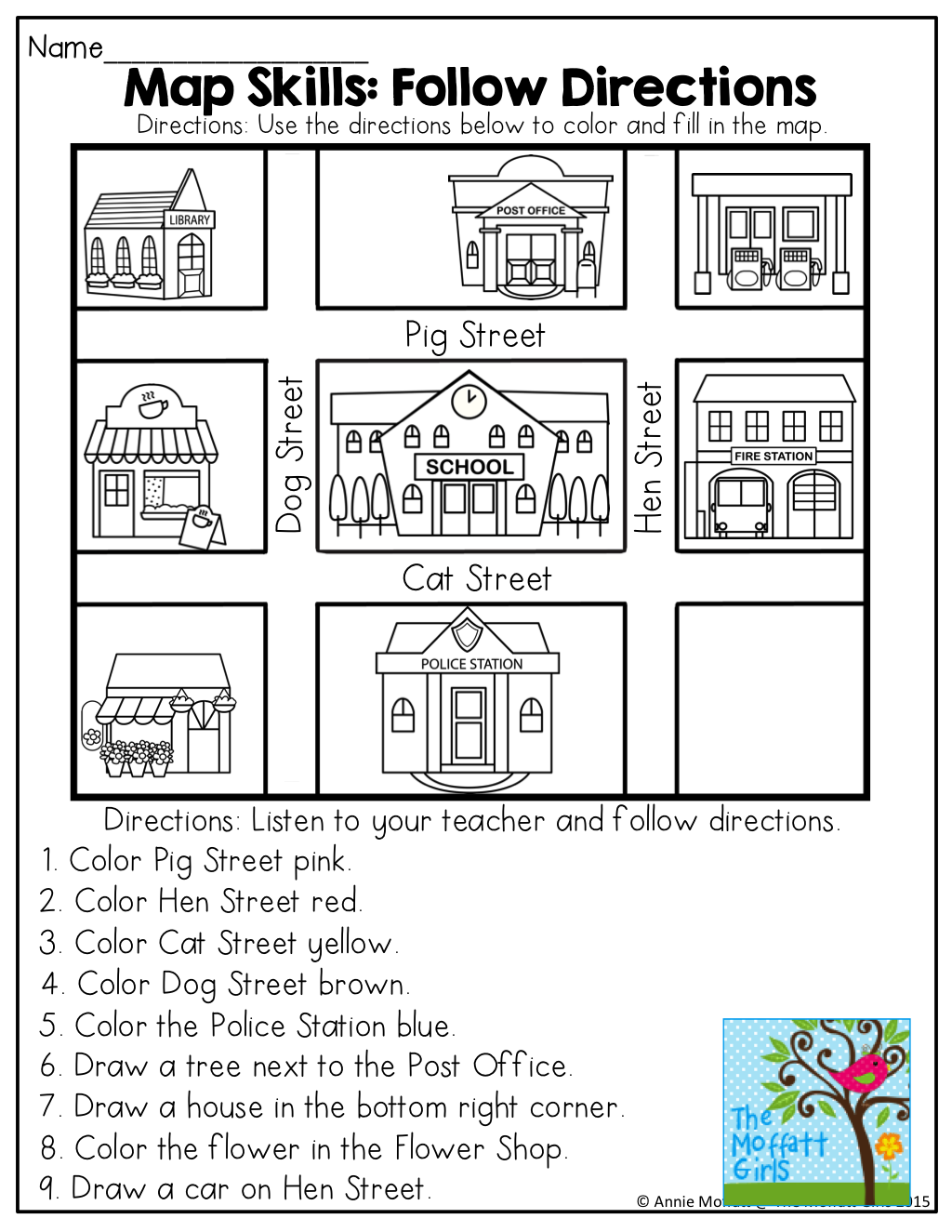 April No Prep Packet (kindergarten) | Moffatt Girl Products