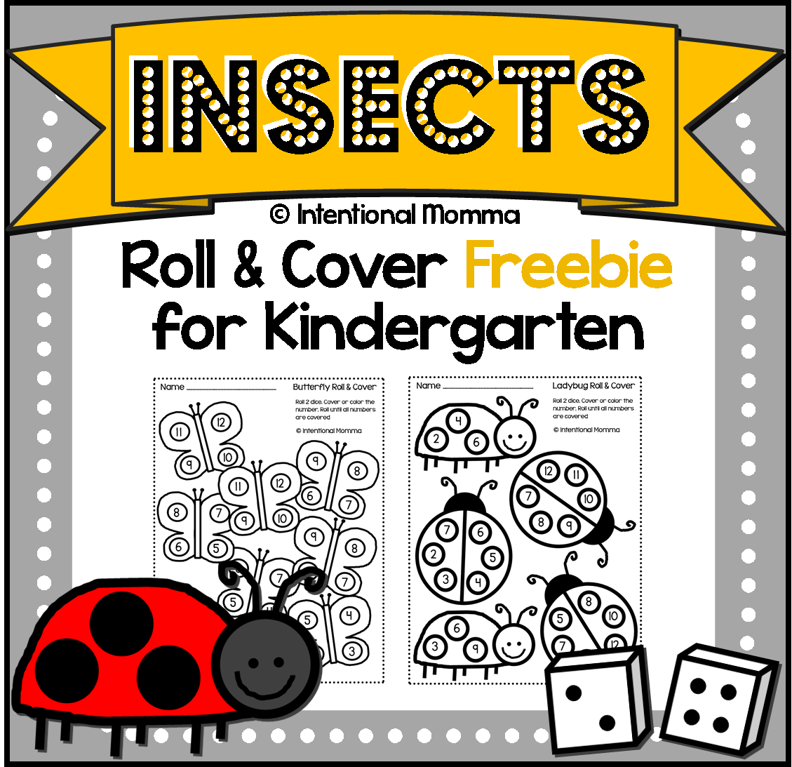 Free Printable Kindergarten Dice Worksheets | Worksheets