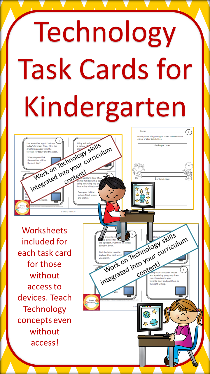 Technology Task Cards For Primary Students | Kindergarten