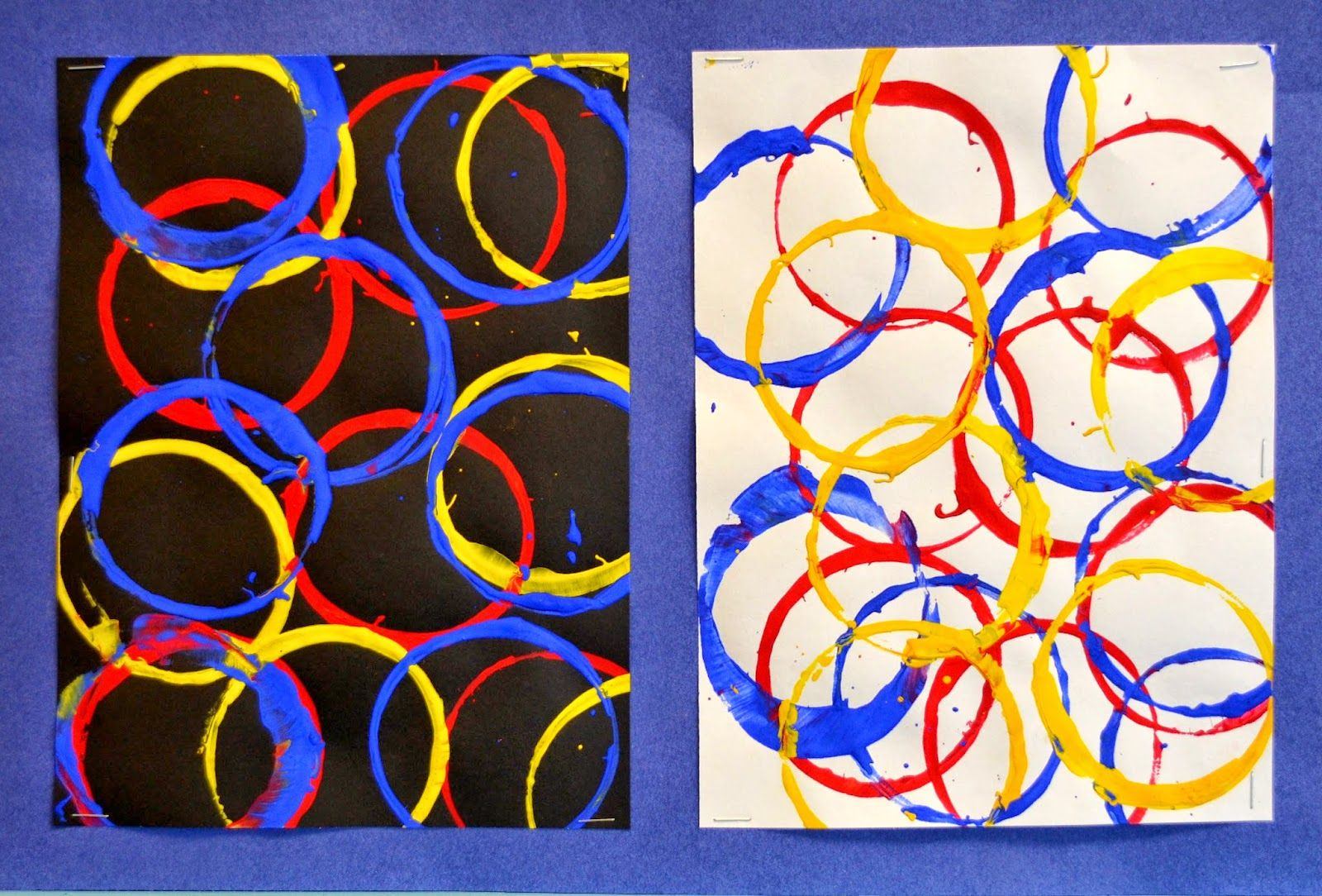 Kindergarten: Primary Color Cup Prints   Lessons From The K