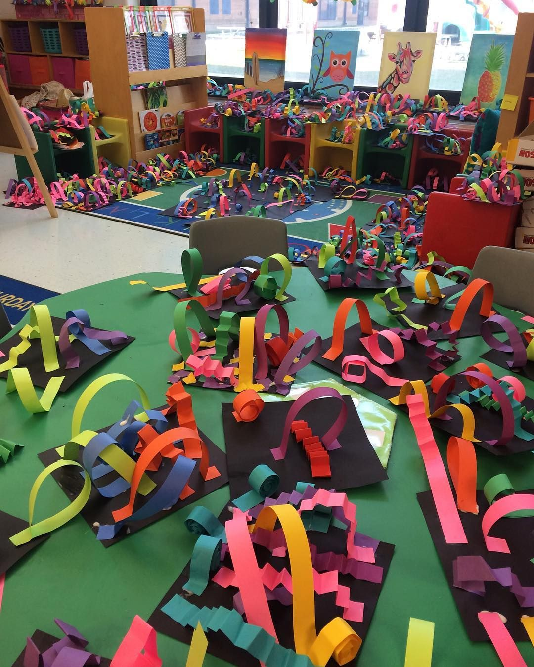 Line Sculptures Are Taking Over! #kindergartenart #kindergarten