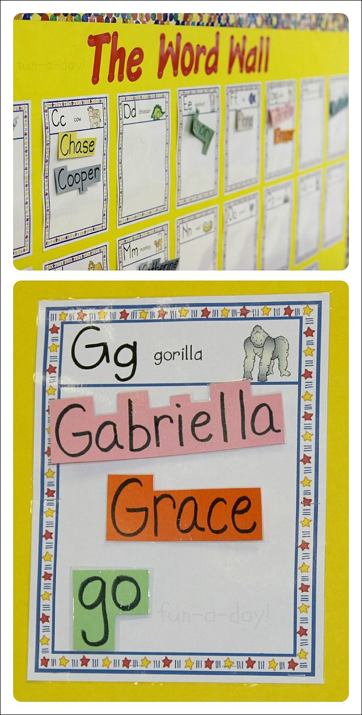 Word Walls In Preschool And Kindergarten | New Teachers