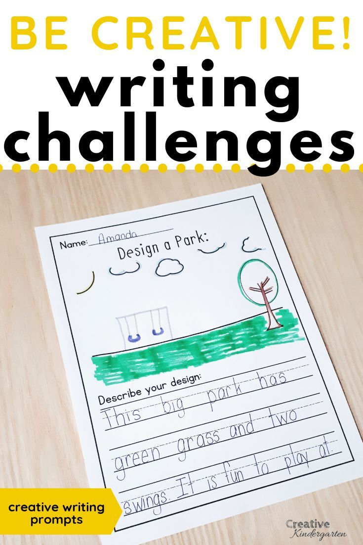 Be Creative Writing Prompts For Kindergarten | Kindergarten