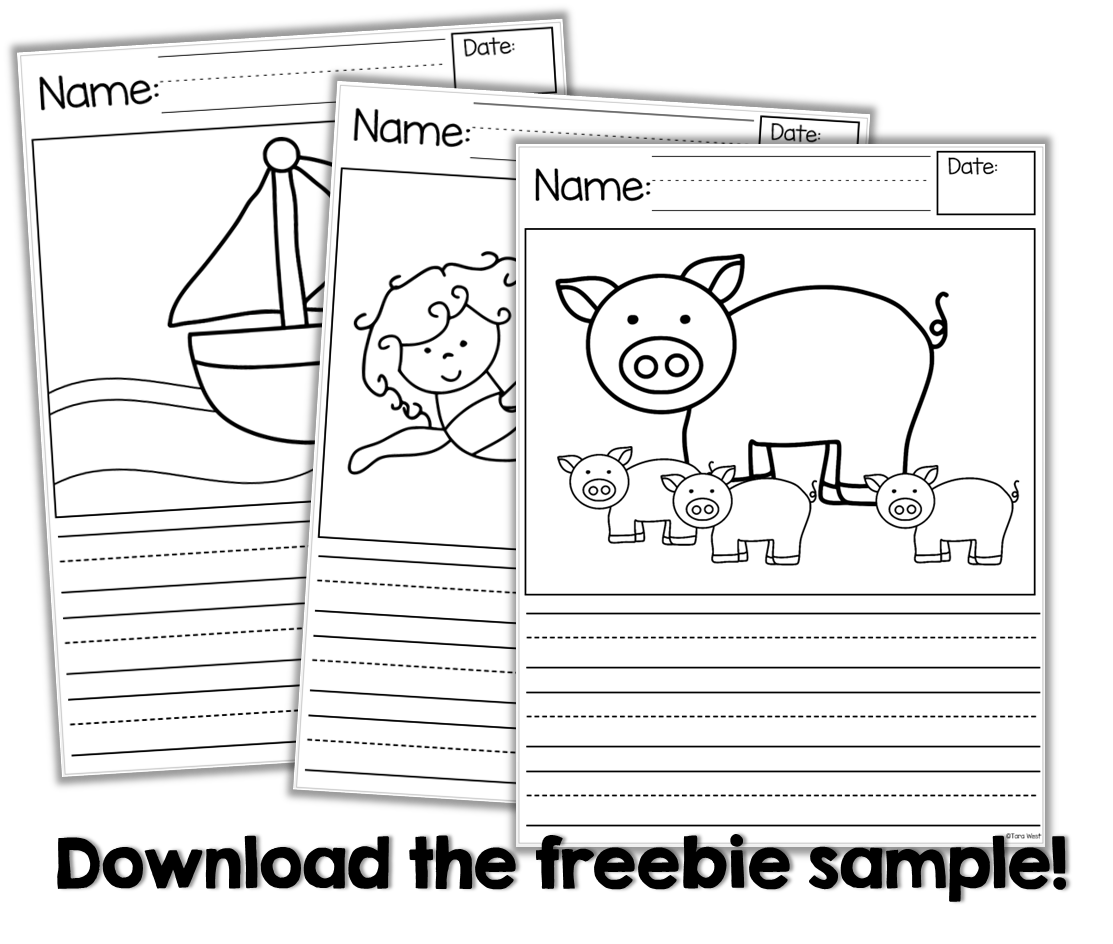 Writing Story Starters {freebie Too | Kindergarten Writing