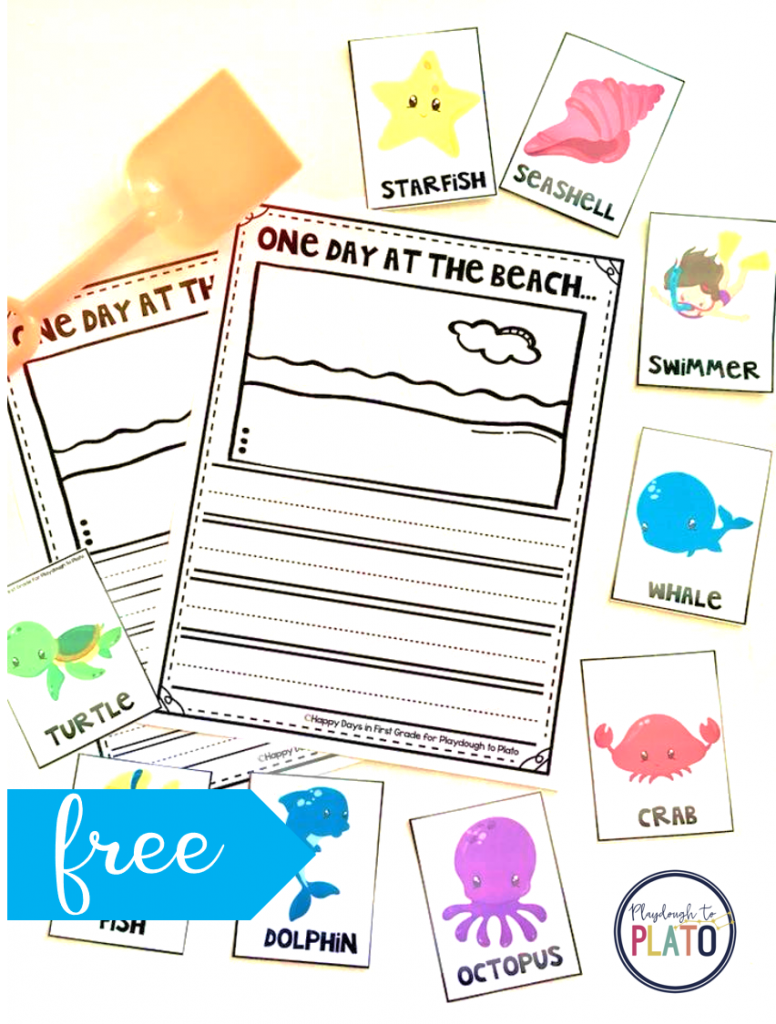 Beach Writing Prompt | Kindergarten Writing Prompts, Writing