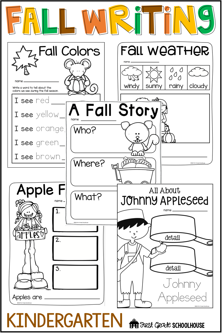 Fall Writing For Kindergarten | First Grade Schoolhouse Tpt