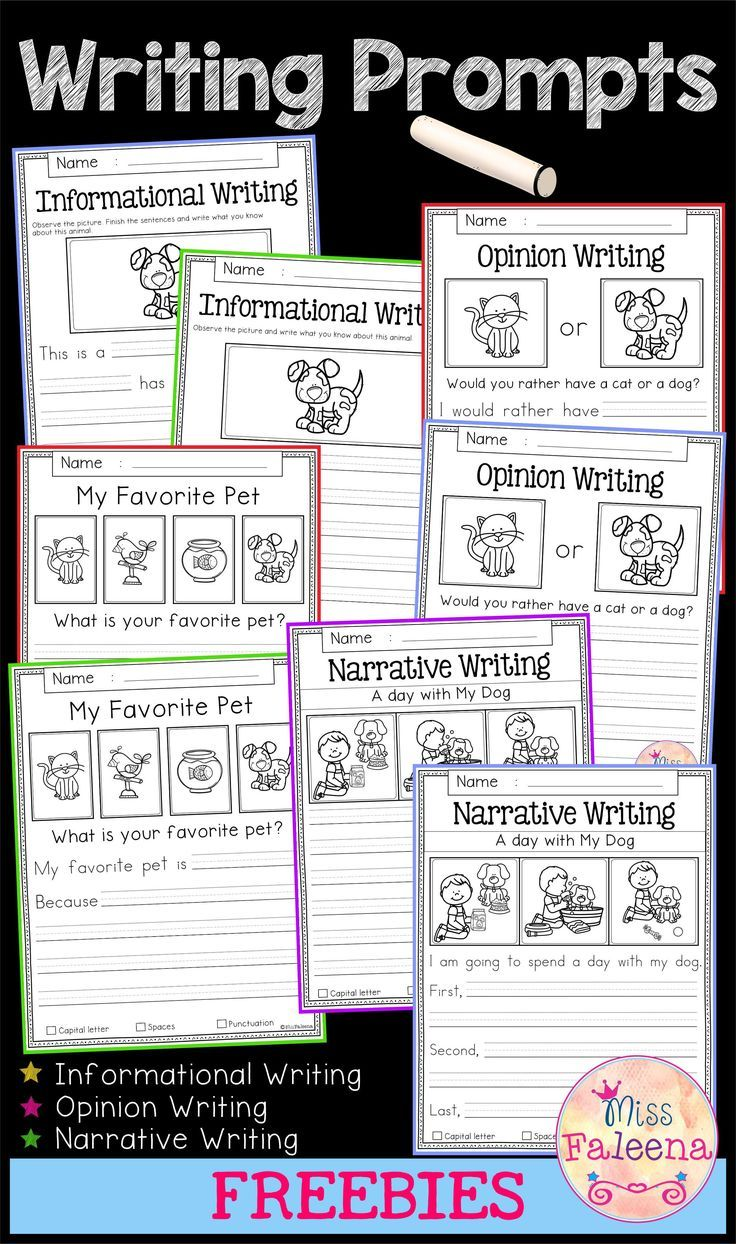 Free Writing Prompts | Classroom Ideas | Kindergarten