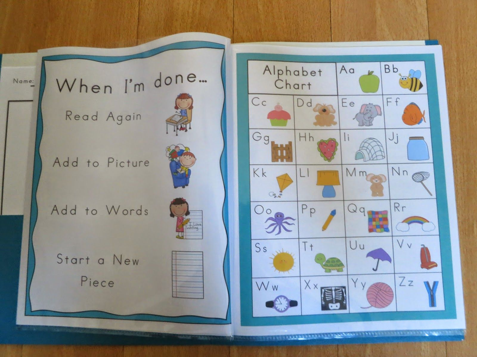 Writing Folders For Kindergarten And First Grade They