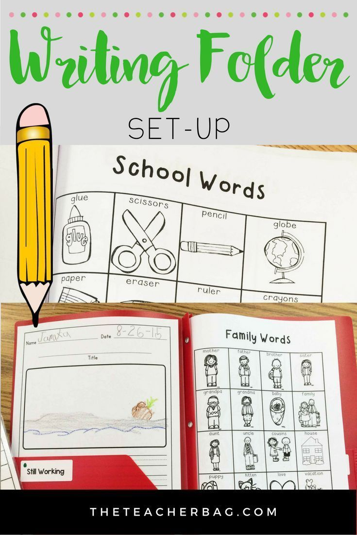 Setting Up A Writing Folder | Kindergarten 2016 - 2017