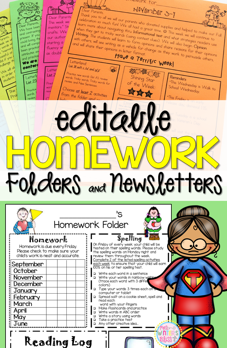 The Write Spot! {a Homework Freebie} | Kindergarten Lesson