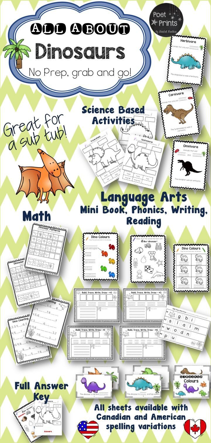 Kindergarten Dinosaur Unit, Math, Literacy | Steam
