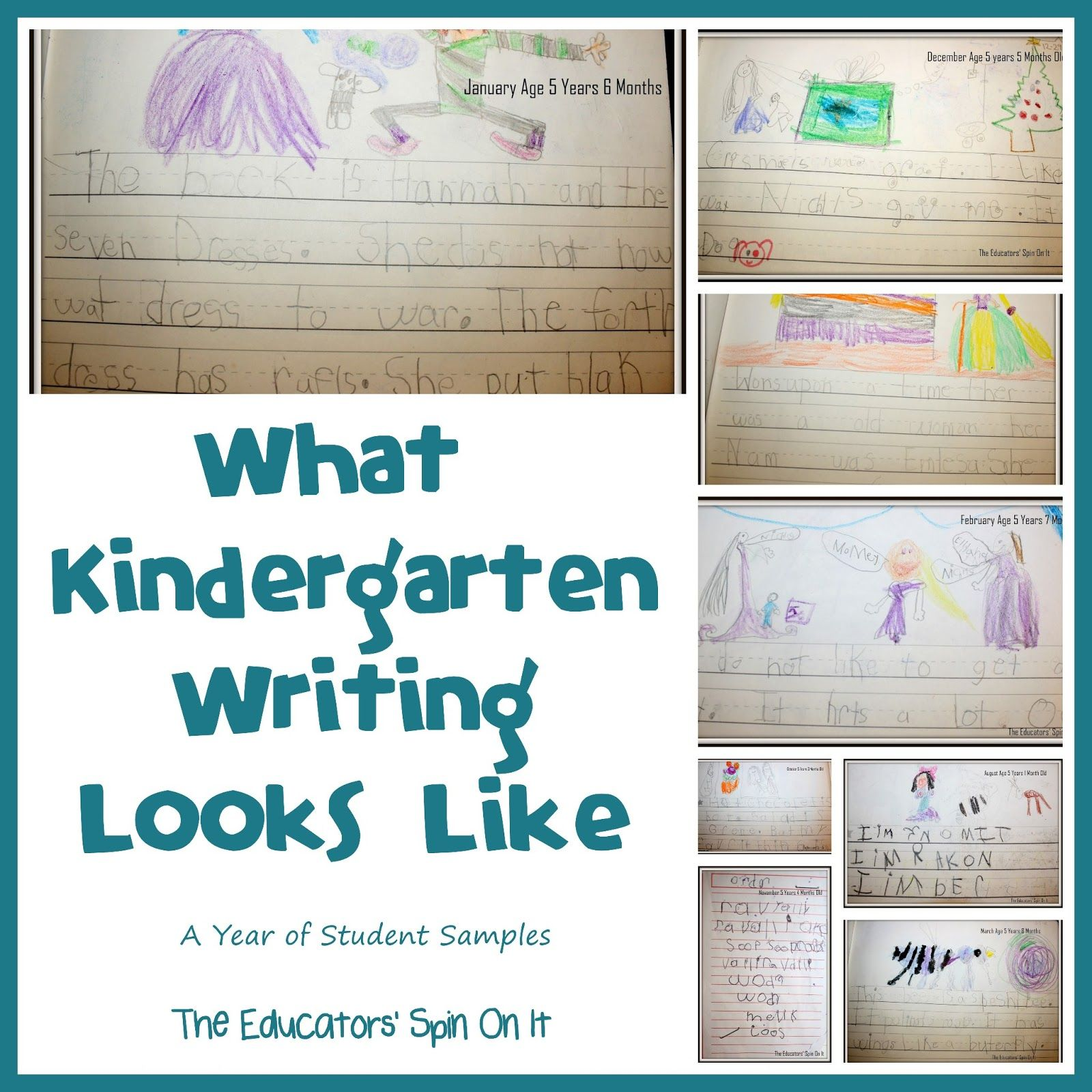 What Kindergarten Writing Looks Like - A Year Of Student