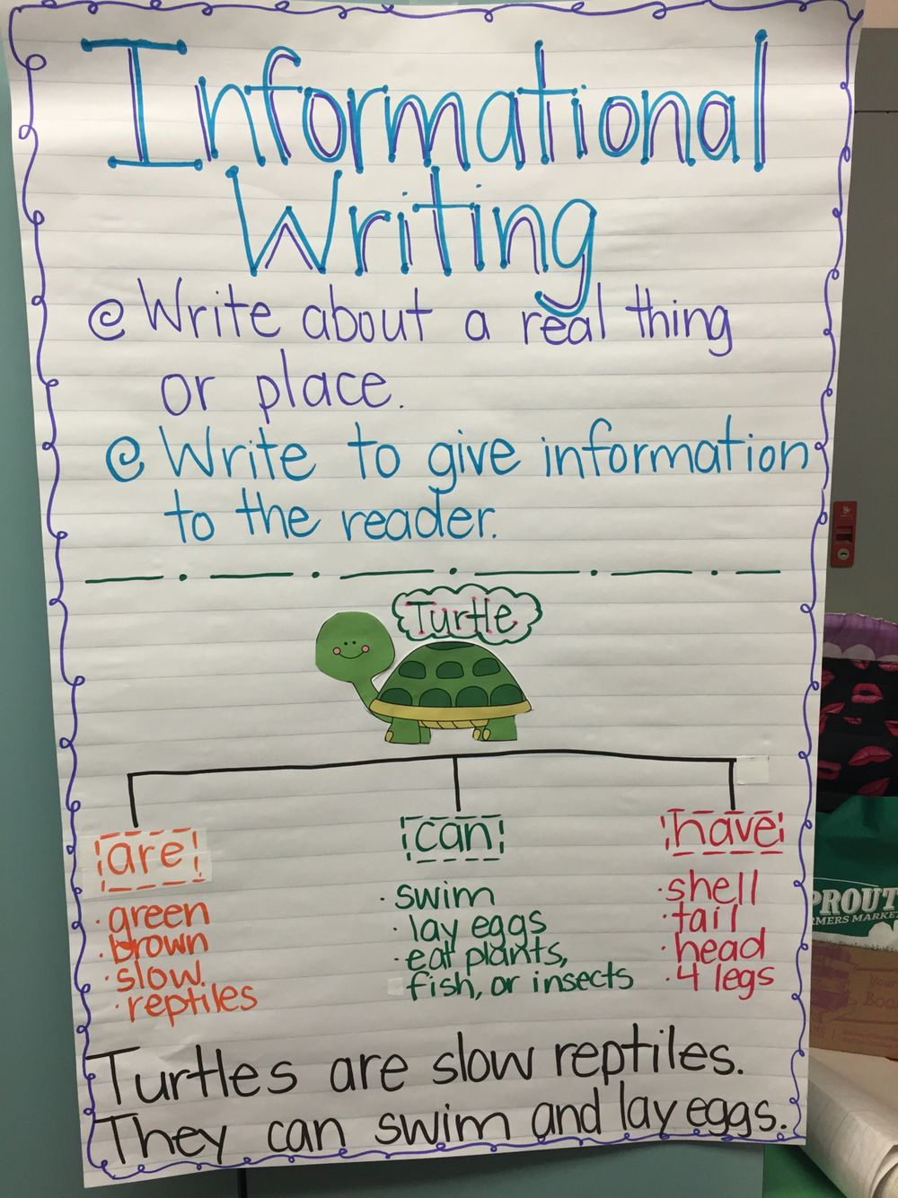 Informational Writing-sustainable Print For Kindergarten
