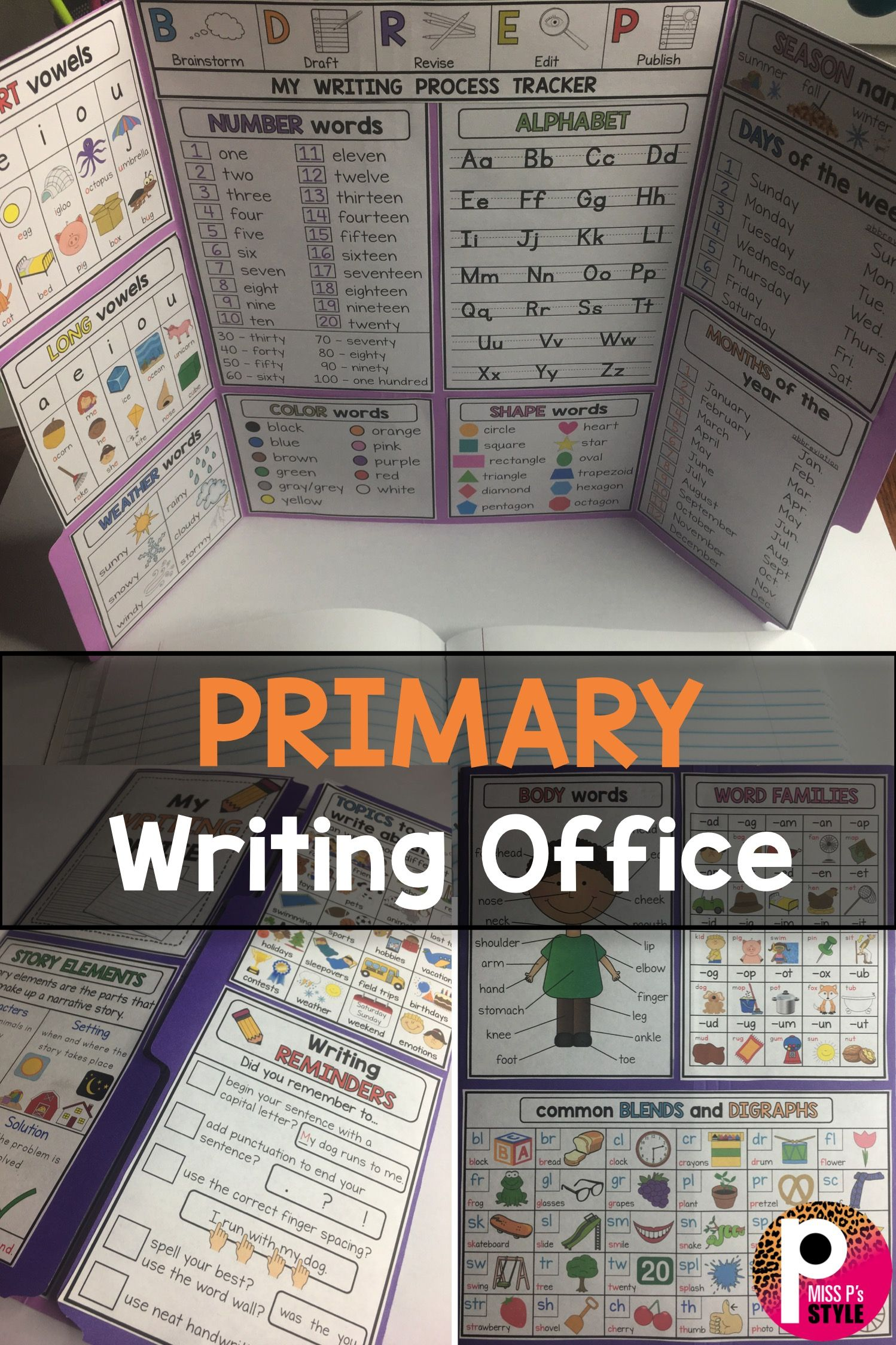 Primary Writing Office | Writing Offices, Kindergarten