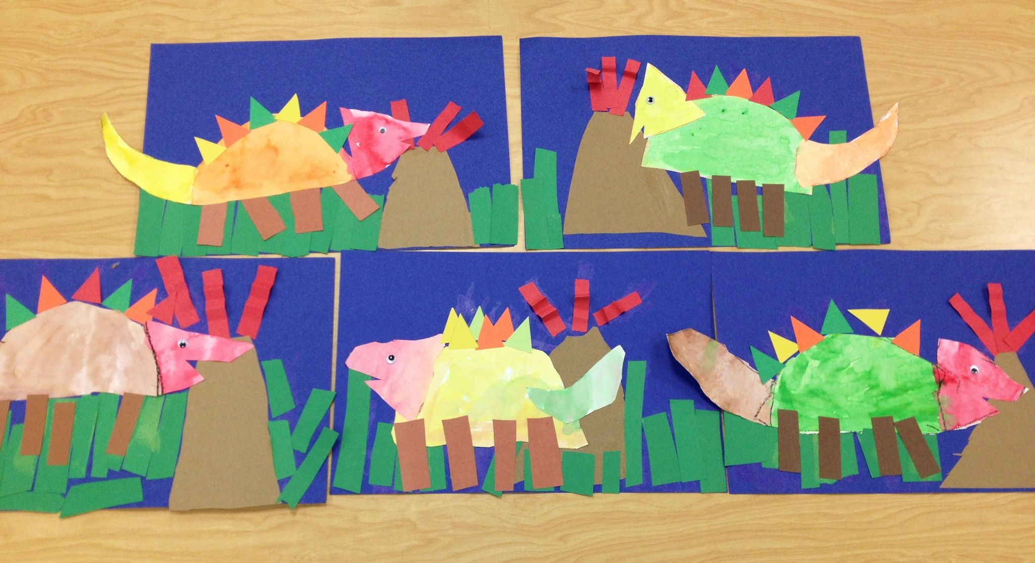 Building Dinosaurs With Shapes- Kindergarten Art(art Teacher