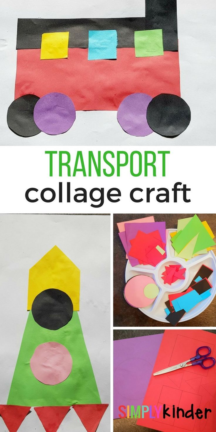 Transport Collage Craft | Kindergarten Art Activities