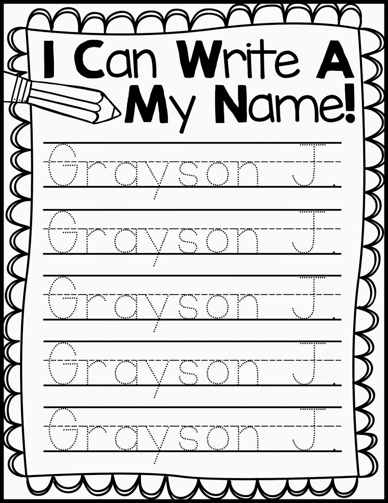 Freebie Friday* Name Handwriting Practice | Kindergarten
