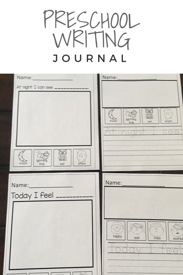 Preschool Writing Journal | Kindergarten Writing Activities