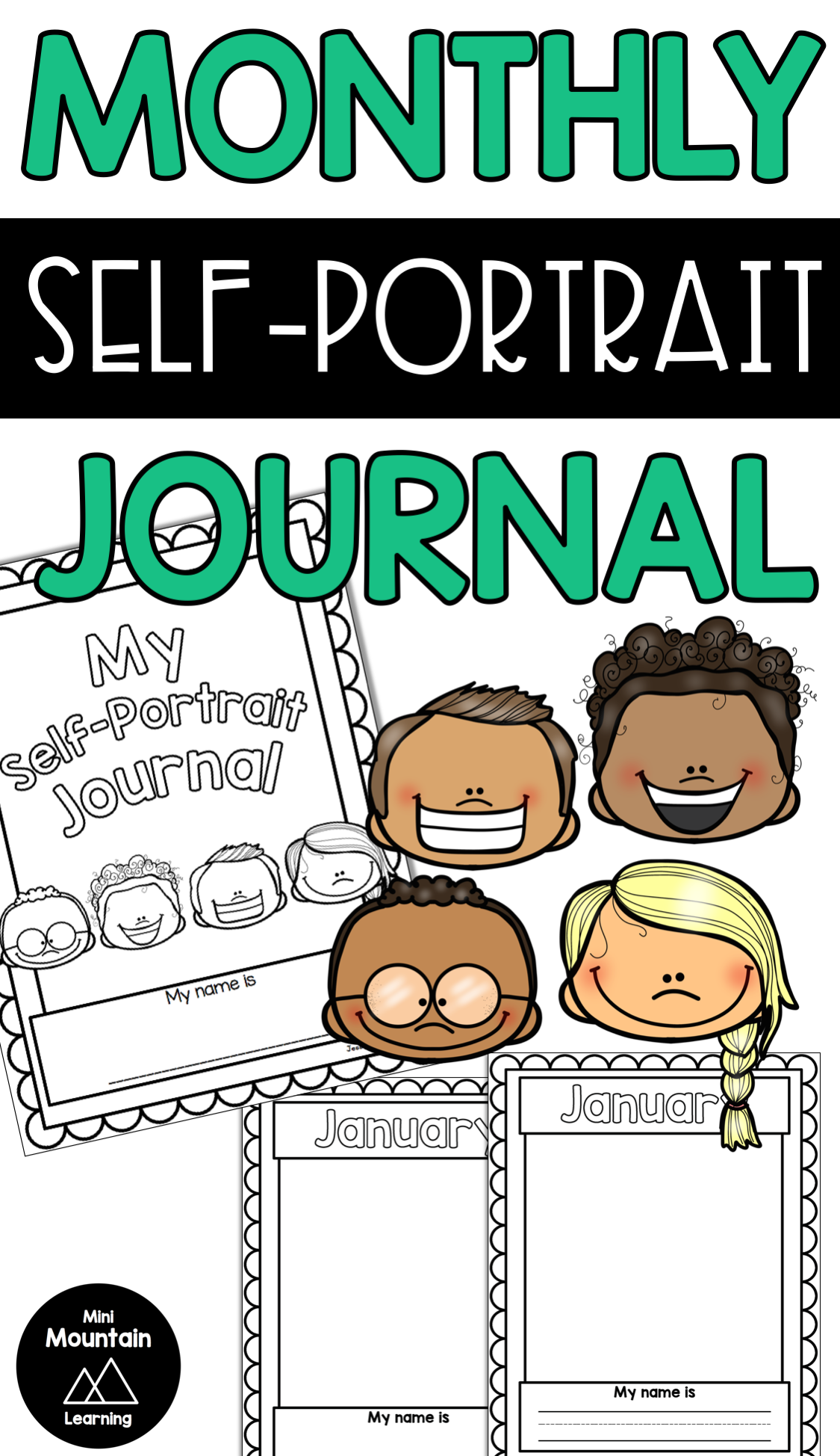 Monthly Self-portrait Journal | Kindergarten Writing | Self