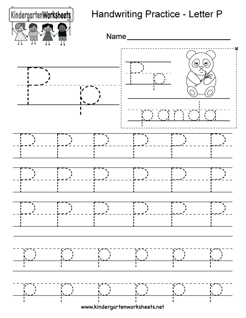 Letter P Writing Worksheet For Kindergarteners This Series