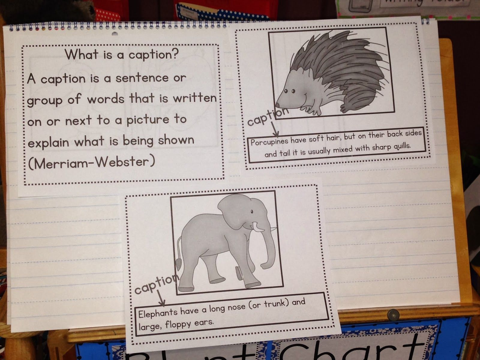 Writing Captions (chalk Talk: A Kindergarten Blog