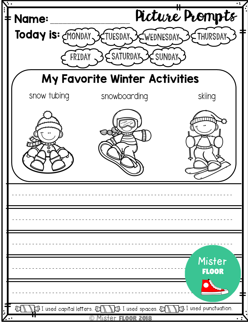 Kindergarten Writing Prompts: Opinion Writing & Picture