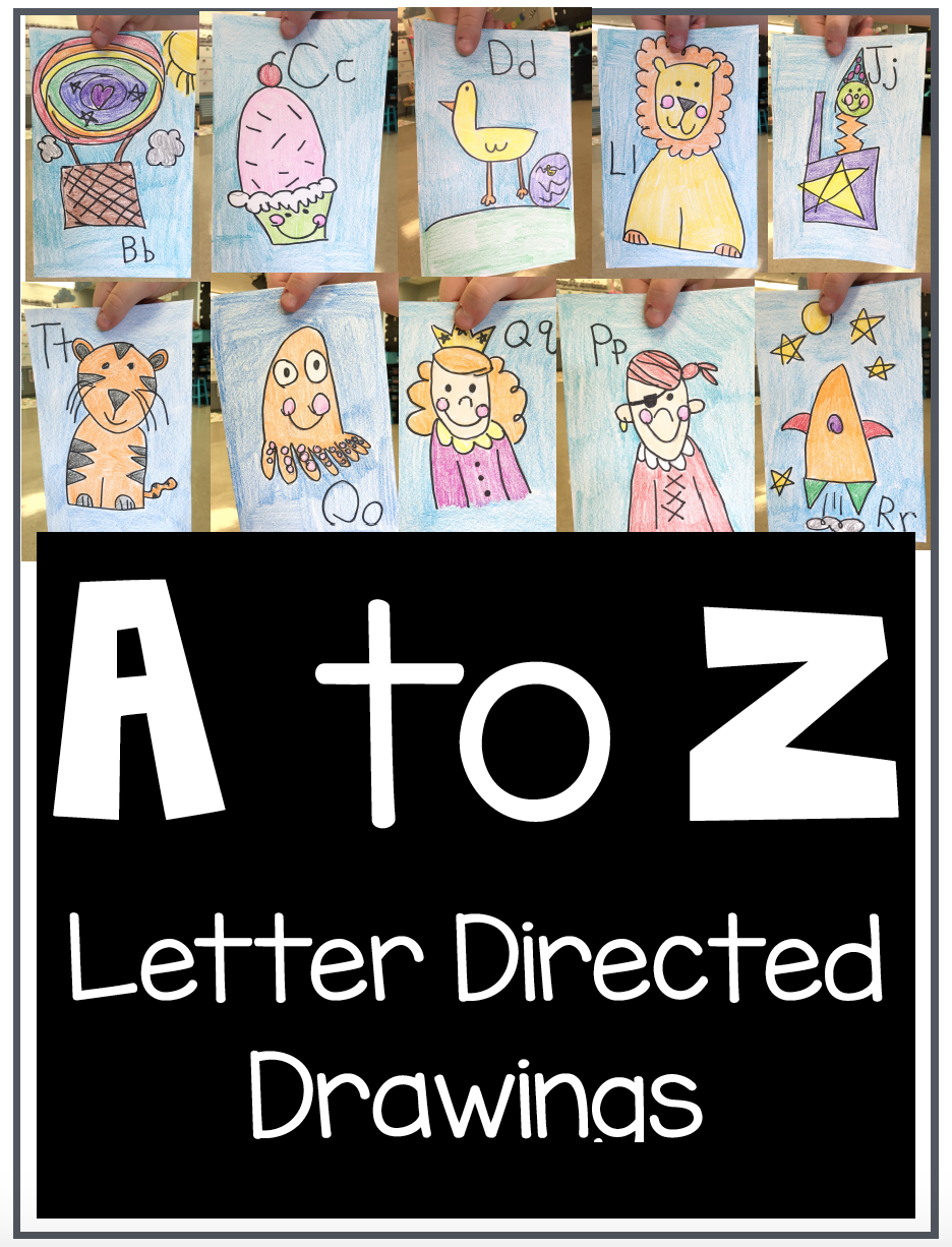 A-to-z-directed-drawing | Kindergarten Drawing, Directed