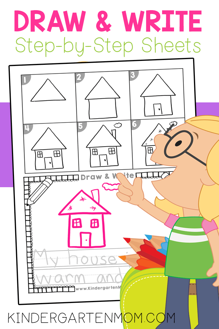 Directed Drawing: Draw And Write | Kindergarten Drawing