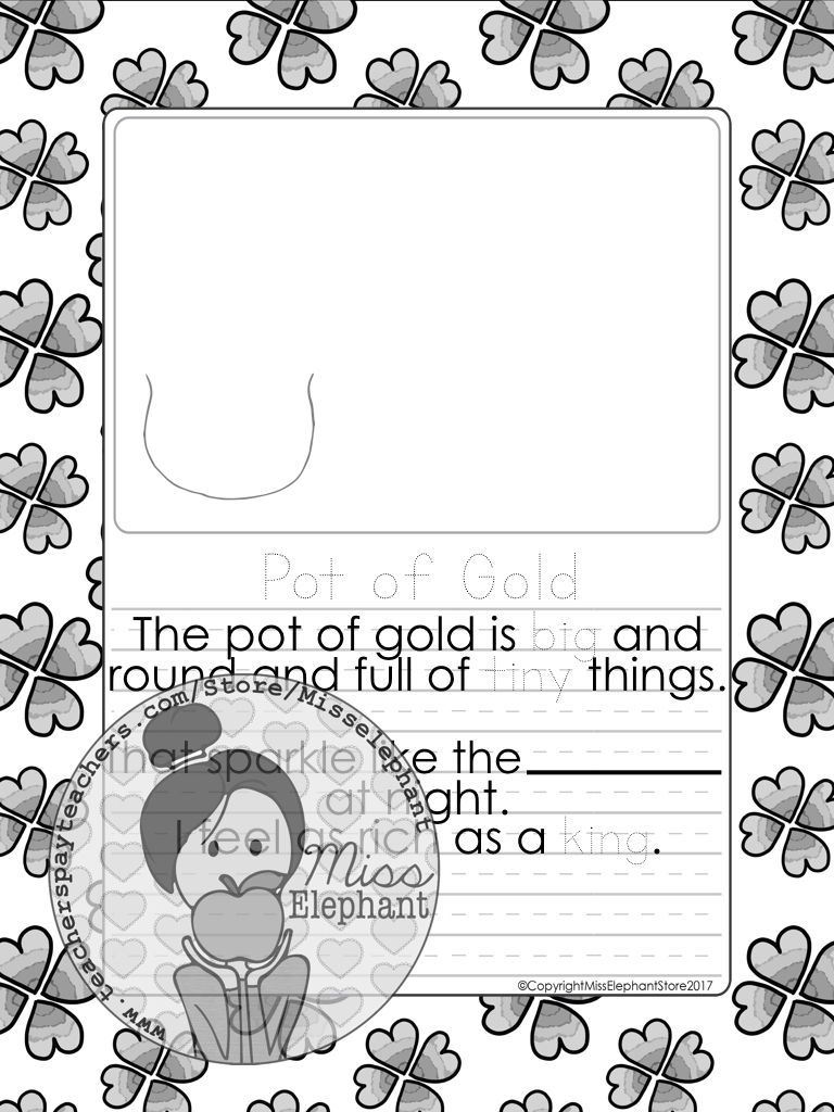 Kindergarten / Grade 1 Writing Prompts (march