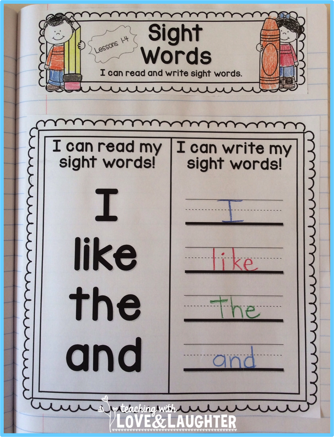 Kindergarten Sight Words Interactive Notebooks | Sight Words