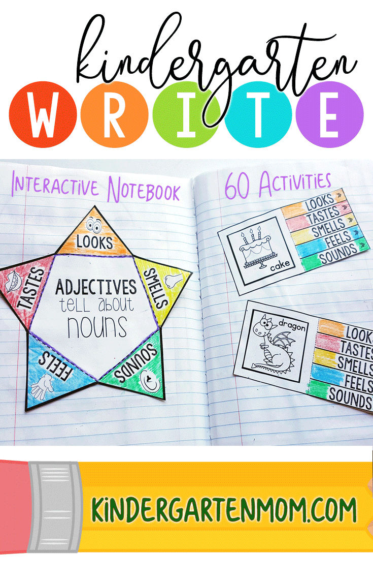 Write: Interactive Grammar Notebook | Kindergarten Writing