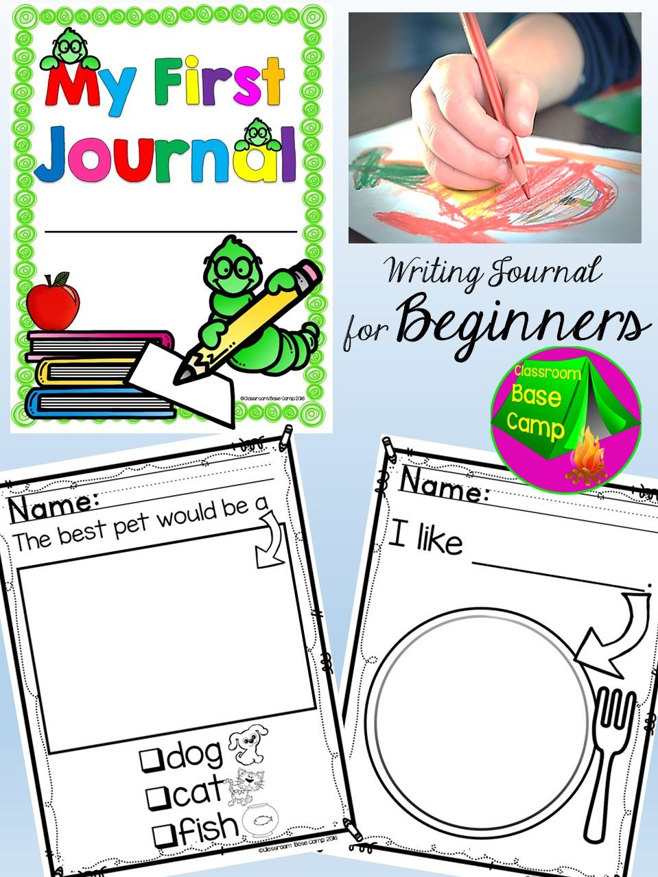 Writing Journal For Beginning Writers | Kindergarten Writing