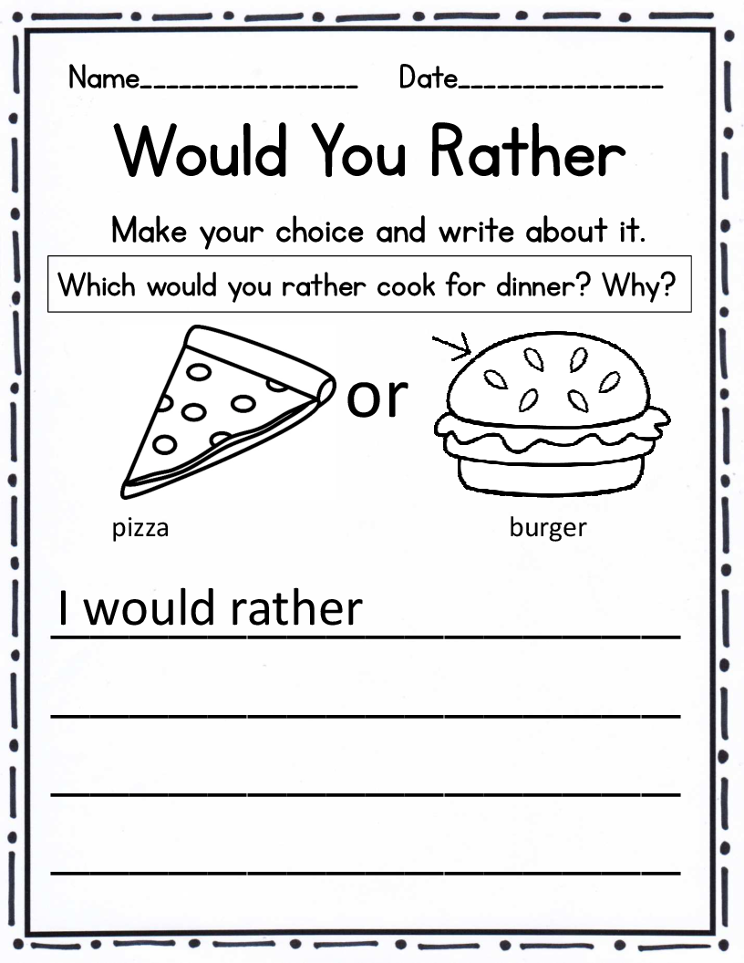 Writing Prompt Worksheets | Kindergarten Writing Prompts